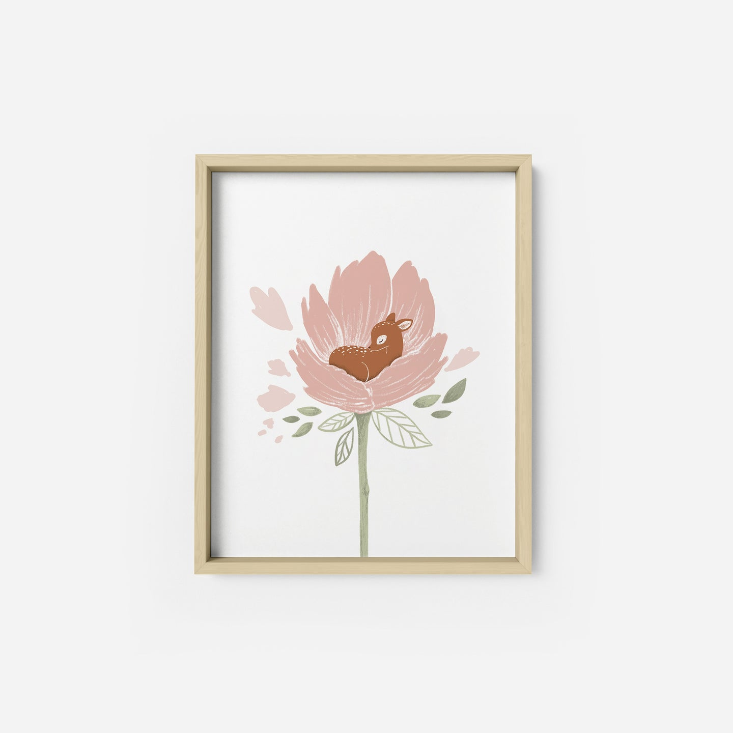 Blooming Fawn Art Print