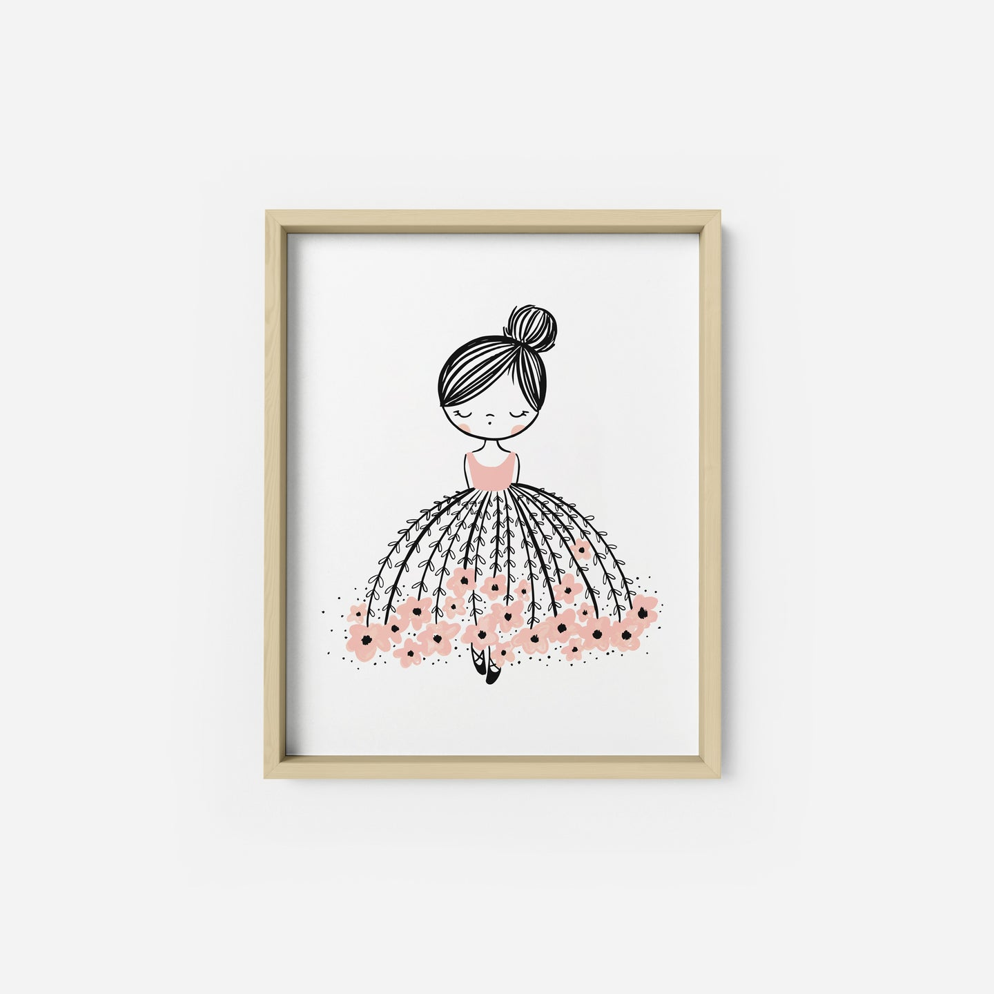 Flower Dress Dreamer Art Print