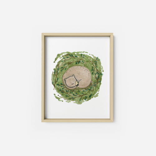 Sleeping Bear Art Print