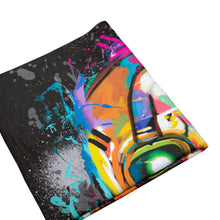 Load image into Gallery viewer, Psycho Bandit Graffiti Mask Throw Blanket