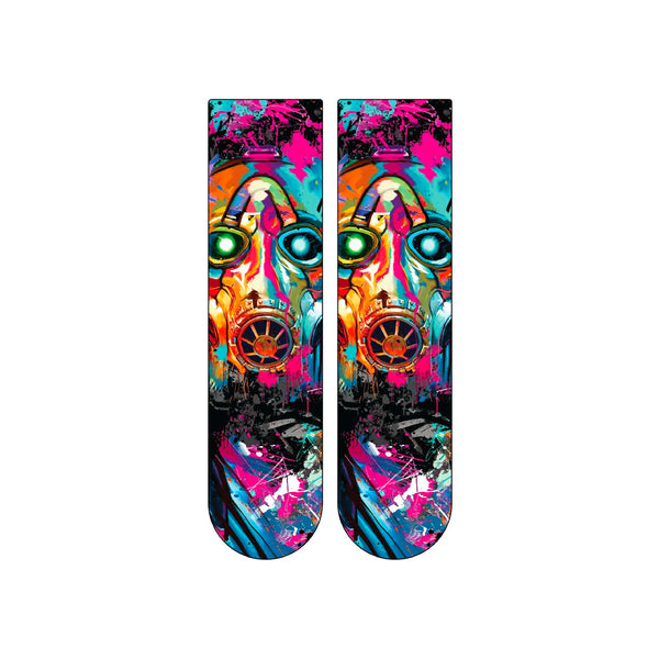 Psycho Bandit Mask Graffiti Socks