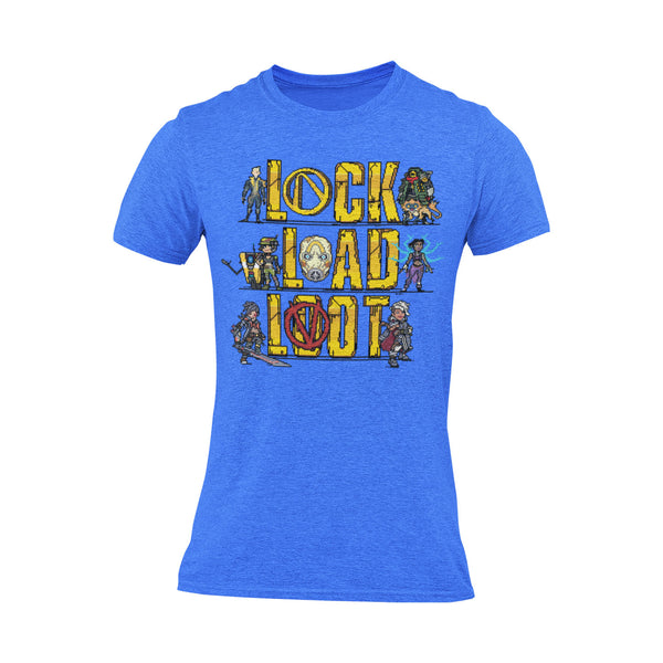 Pixel Art Lock Load Loot T-Shirt
