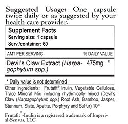 Devil's Claw Supplement facts