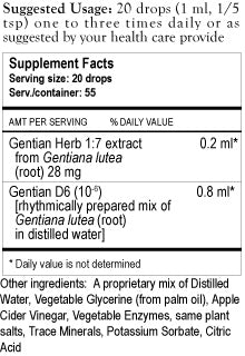 Gentian Herbal Tincture
