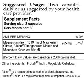 Magnesium Reservoir Supplement Facts