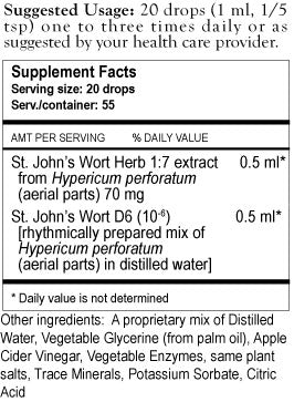 St Johns Herbal Tincture Supplement Facts