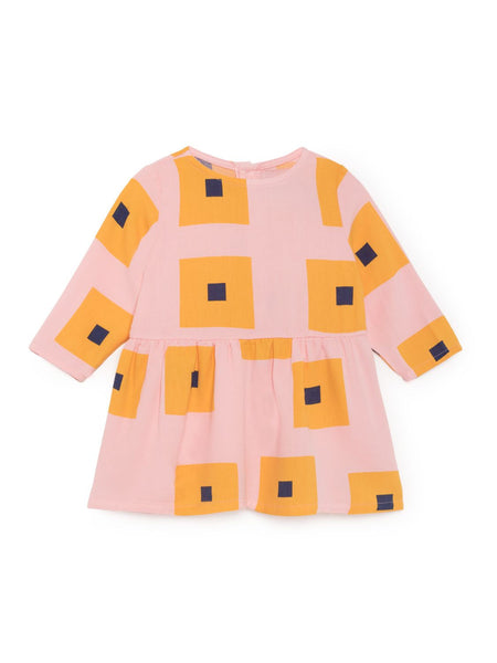 Bobo Choses | Mellow Rose Squares Princess Dress