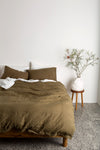 Of The Sun | Duvet Set - Olive