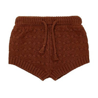 Miann & Co | Rust Knit Bloomer Shorts - Baby