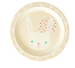 Rice | Melamine Kids Lunch Plate with Rabbit Print