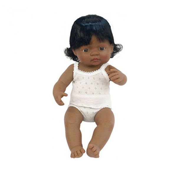Miniland | Hispanic Girl Doll - 38cm
