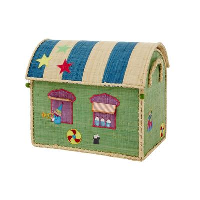 Rice | Circus Raffia Toy Storage Basket - Small