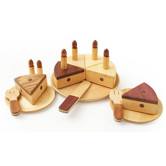 Soopsori | Wooden Birthday Cake Set