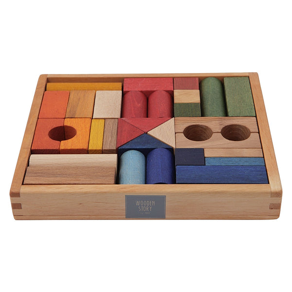 Wooden Story | Rainbow Blocks - 30 Piece