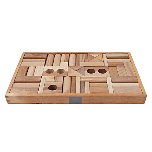 Wooden Story | Natural Blocks - 54 Piece