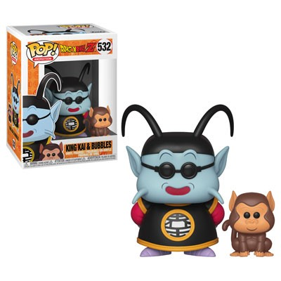 Dragon Ball Z: King Kai & Bubbles Funko Pop! With Pop Protector