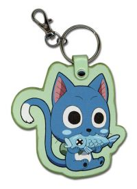 Fairy Tail: SD Happy w/Fish PU Keychain