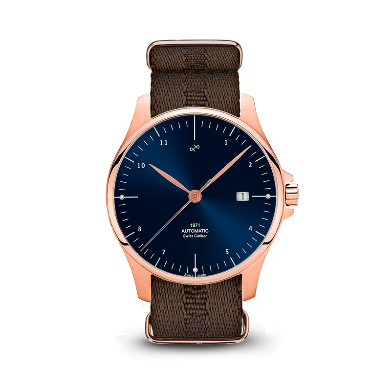 1971 Automatic, Rose Gold / Night Blue - Swiss Made