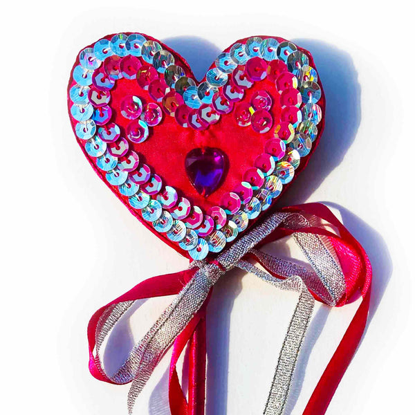 Ribbon Heart Wand
