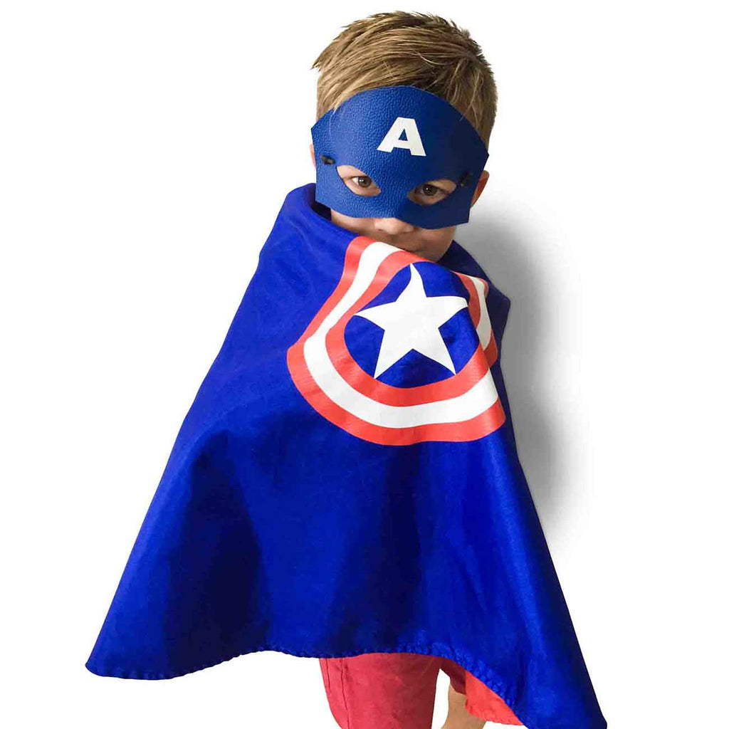 captain america cape and mask set