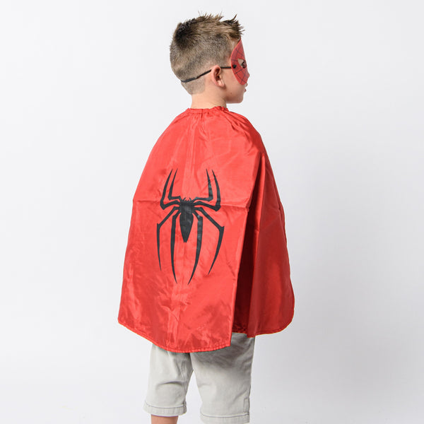 spiderman cape and mask set