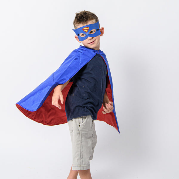 superman cape and mask set