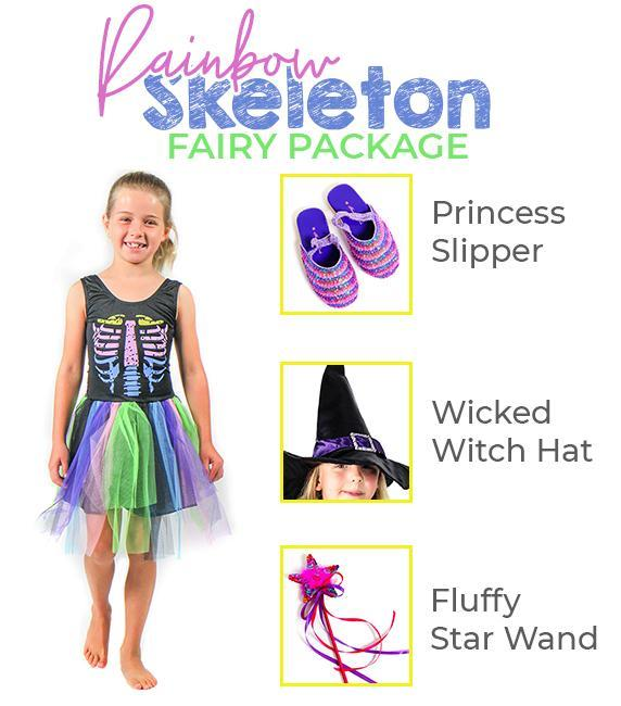 Rainbow Skeleton Fairy Dress