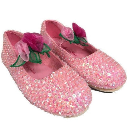 Rose Sequin shoes