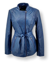 Tracy - Long - Lamb Malli Leather - Women - Sapphire Blue