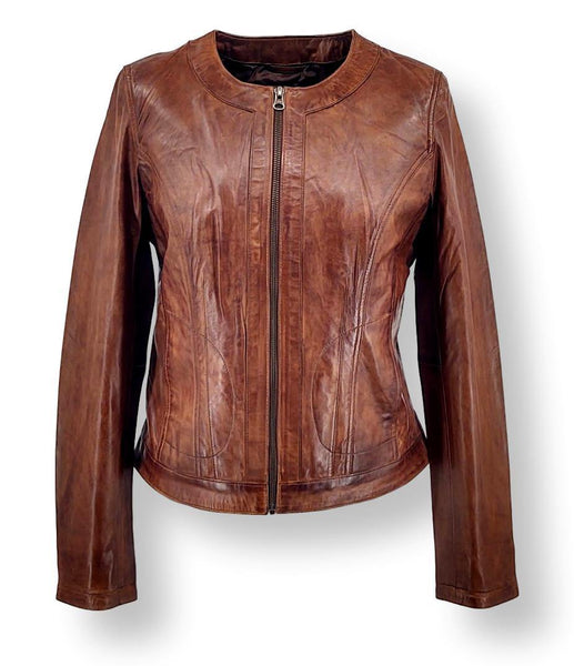 Fay - Lamb Leather - Women - Copper Brown