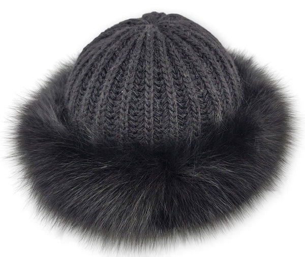 632-685/02-02 Hat - Fox - Accesories - Black (Hue) | STAMPE PELS
