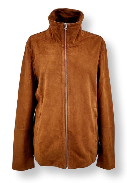 Liana - Goat Suede Leather - Women - Cognac