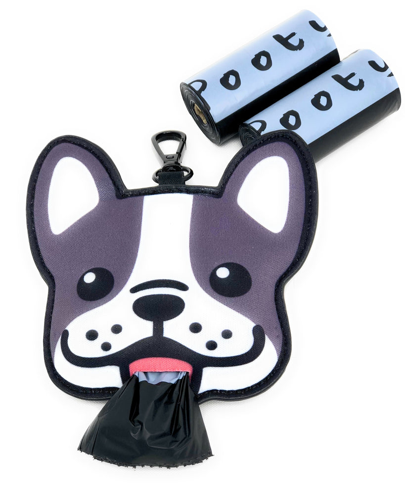 Pooty Pet Holder, Dog Bag Holder, Poop Bag Holder, Dog Poop Bag Holder, French Bulldog, Frenchie