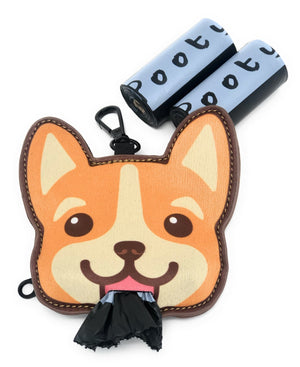 Pooty Pet Holder, Dog Bag Holder, Poop Bag Holder, Dog Poop Bag Holder, Biodegradable Poop Bags, Earth Friendly Poop Bags, Corgi, Wellshire corgi