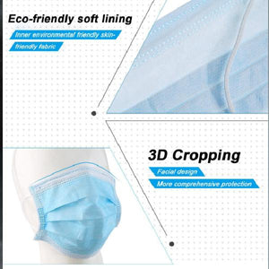 50pcs 3 Ply Nonwoven Protector