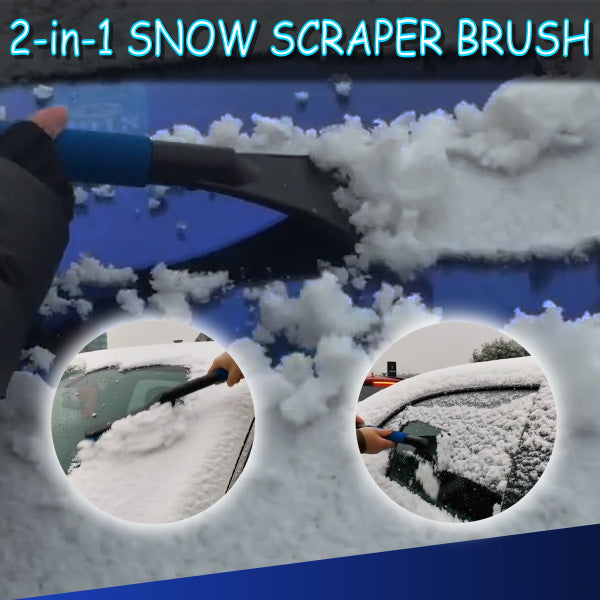 2-in-1 Snow Scraper Brush