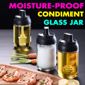 Moisture-Proof Condiment Glass Jar