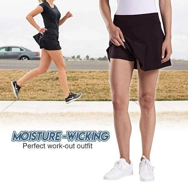Ultra-Thin Breathable Workout Pleated Skorts