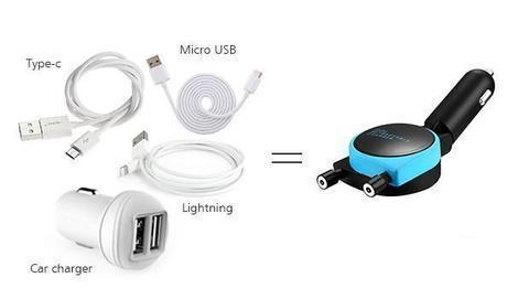 Magnetic Dual Car Charger