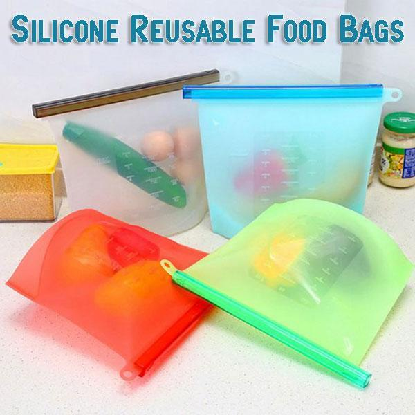 Silicone Reusable Food Bags