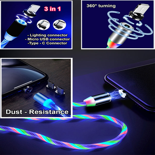 LED Magnetic Fast Charging Cable