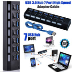 USB 3.0 Hub Power Adapter Multi USB Splitter