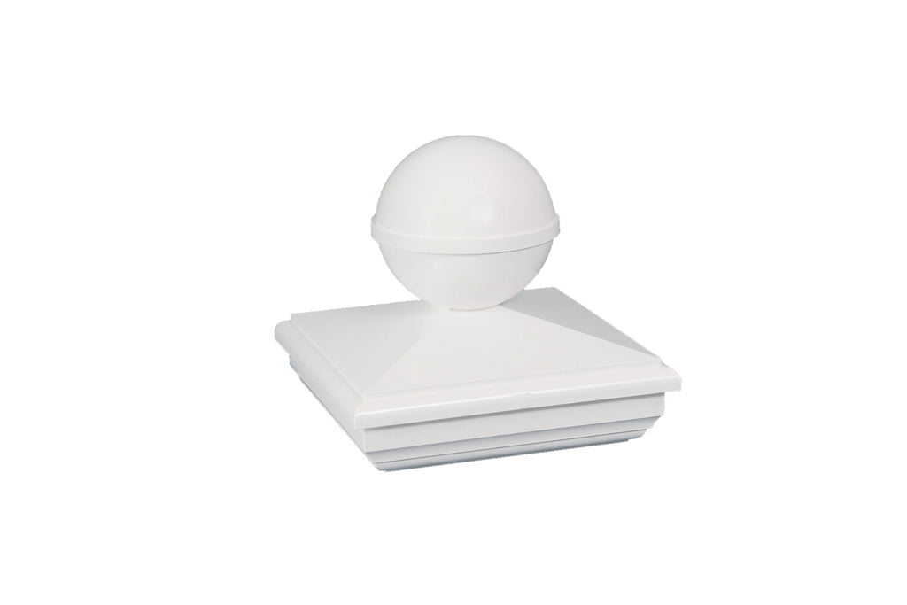 NEW ENGLAND BALL PVC POST CAP