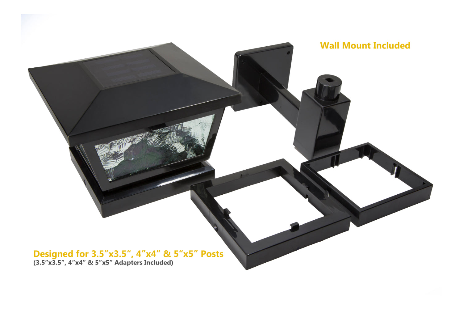 BLACK FAIRMONT  SOLAR POST CAP / WALL MOUNT