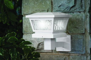 WHITE FAIRMONT  SOLAR POST CAP / WALL MOUNT