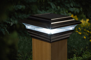 4x4 BLACK ALUMINUM  IMPERIAL SOLAR POST CAP