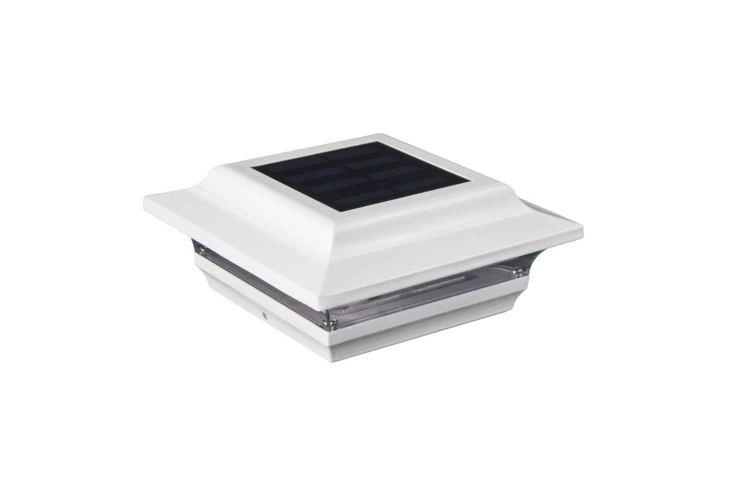 WHITE ALUMINUM IMPERIAL SOLAR POST CAP