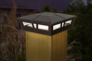 BROWN ALUMINUM CAMBRIDGE SOLAR POST CAP