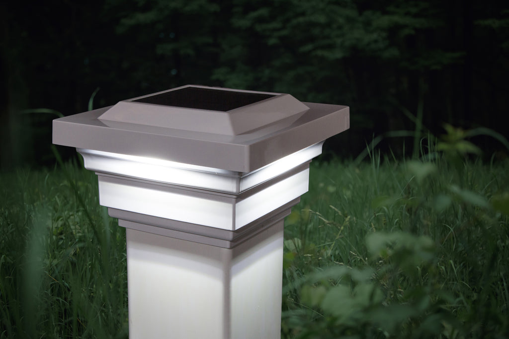WHITE PVC REGAL SOLAR POST CAP