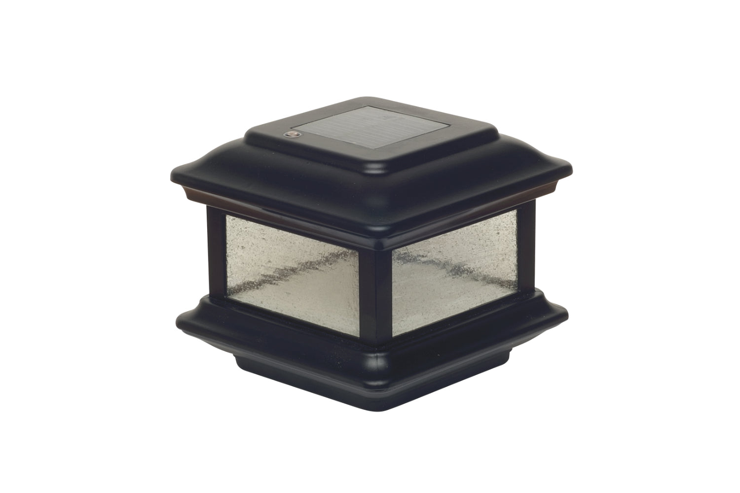 BLACK ALUMINUM COLONIAL SOLAR POST CAP
